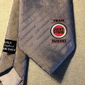 Team Suzuki Lucky Strike Silk Tie 1990s RARE